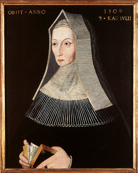 The portrait of Lady Margaret in Christ's College, Cambridge, a 16th Century copy of which is in the National Portrait Gallery.